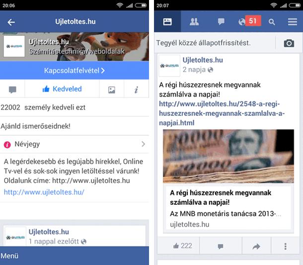Facebook lite magyar APK